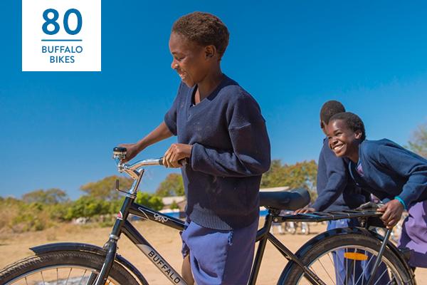 Kinder mit ihren Buffalo Fahrrädern