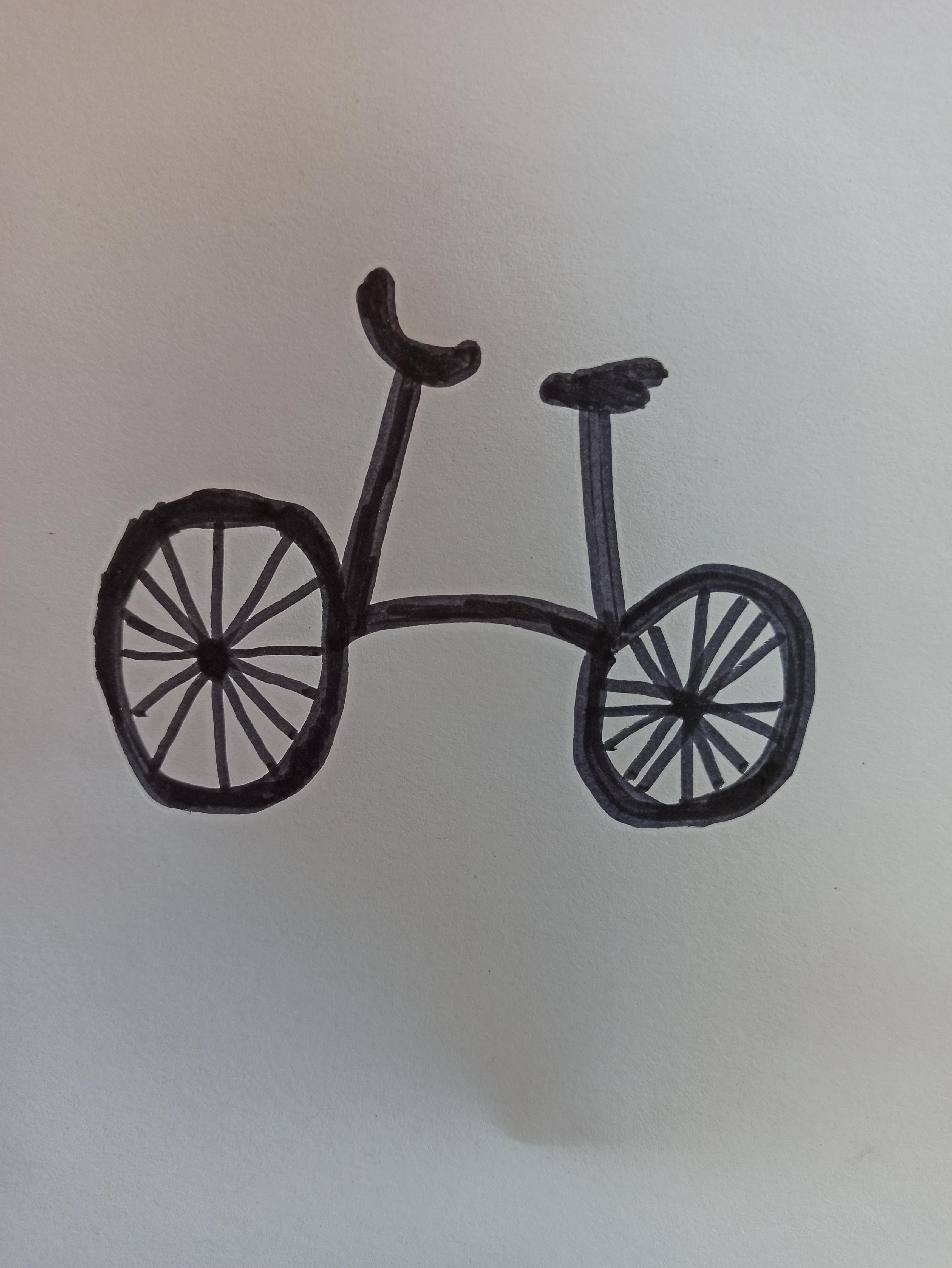 Zeichnung eines Fahrrades